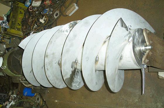 水力発電用スクリュー軸
